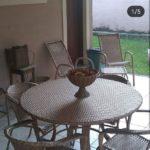conjunto de mesa fibra